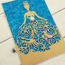 sweet 16 cinderella theme cinderella dress laser cut invitation jinkys crafts