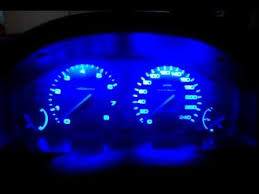 dashboard with blue led lights honda accord cc7 youtube
