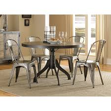 chair magnussen home walton wood round dining table set with metal
