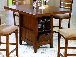counter height dining table with storage wine storage for family room counter height kitchen tables with