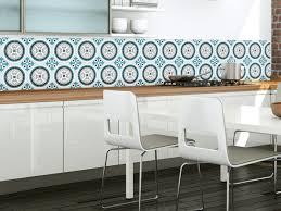 papier peint pour cuisine blanche rosace bleu paon crédence adhésive imperméabilisée paon