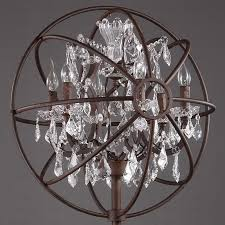 Industrial Crystal Chandelier Chic Hardware Fixture And Crystal Industrial Floor Lamps