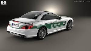 mitsubishi amg 360 view of mercedes benz sl class r321 amg police dubai 2013 3d