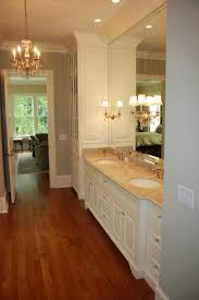 bathroom decoration using rustic solid cherry wood bathroom