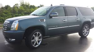 sold 2008 cadillac escalade esv awd 75k 6 2l v8 blue chip