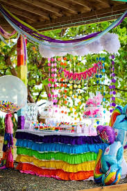 my pony birthday party ideas birthday party ideas birthday party tables streamers and pony