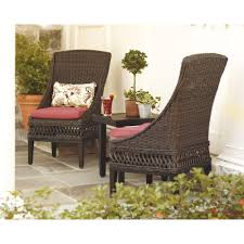 hampton bay woodbury wicker outdoor patio dining chair with chili