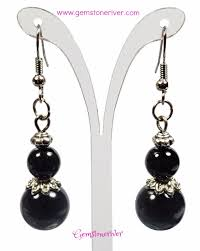 earrings for prom black pearl silver drop dangle earrings wedding prom