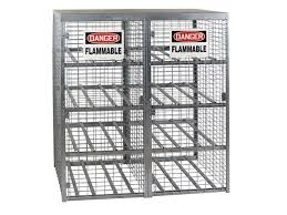 flammable gas storage cabinets propane tank cage outdoor storage 16 cylinders horizontal
