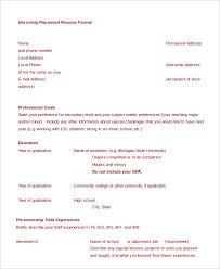 Resume For Internship Sample by College Resume 9 Free Sample Example Format Free U0026 Premium