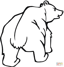 grizzly bear coloring free printable coloring pages