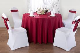 Banquet Table Linen - burgandy colour banquet table cloth polyester table cover for