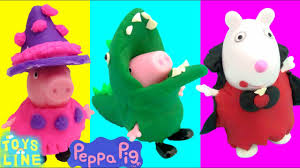 halloween baby toys peppa pig toys diy halloween play doh costumes witch dinosaur