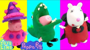 Halloween Costumes Peppa Pig Peppa Pig Toys Diy Halloween Play Doh Costumes Witch Dinosaur