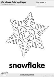 free snowflake coloring super simple learning tons