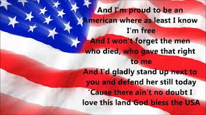 lee greenwood god bless the usa lyrics youtube