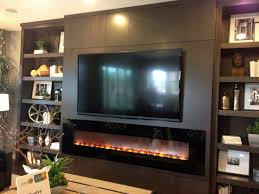 Tv Walls by Modern Entertainment Wall With Fireplace Dwell Interior