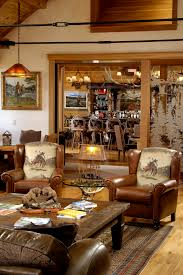 Livingroom Bar by Rustic Western Ranch Home Love The Cowboy Chairs And The Antler