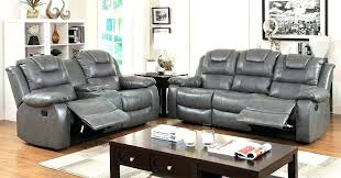 Sofa Loveseat Recliner Sets Leather Sofa Loveseat Recliner Set Love Seats Modern Grey Black