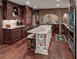kitchen with brick wall zamp co