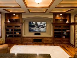 home theater ideas for small rooms rectangle black led tv on grey wall with black speaker and dark