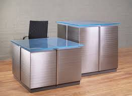 Reception Desk With Display L Shaped Reception Desks Glass Reception Desks Stoneline Designs