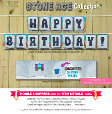 stone age collection print at home birthday party