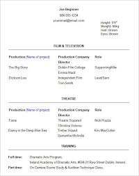 beginner resume template acting resume exles for beginners best resume collection