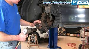 how to install replace front wheel bearing hub chevy cavalier