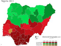 map of nigeria africa electoral politics and religious strife in nigeria geocurrents