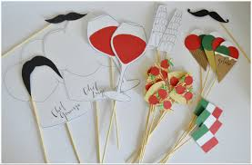 italian themed party paper crafts made party decorations italian themed