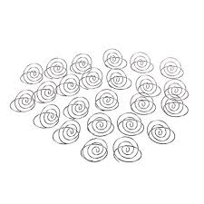 table top place card holders swirl table top card holder silver 24 pcs place card holders