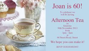 tea afternoon tea birthday invitations