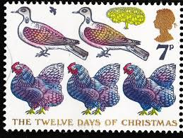 twelve days of christmas royal mail royals and stamps