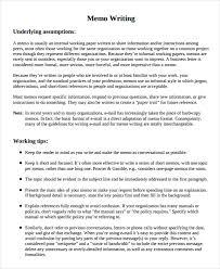 8 memo writing examples samples