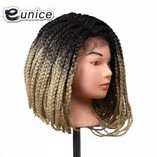 where can i buy pre braided hair online shop 14 inch lace front bob synthetic wigs ombre 1b