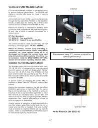 vacuum pump maintenance combo filter maintenance mahle rti
