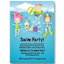 Backyard Birthday Party Invitations by Blue Swirly Swim Party Invitations Girls Birthday Party Invites