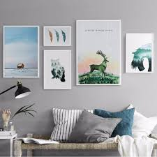 Nordic Home Watercolors Landscapes Promotion Shop For Promotional Watercolors