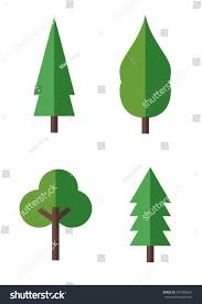 flat tree icon stock vector 546780694