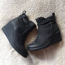 s ugg australia black emalie boots ugg australia wedge booties for ebay