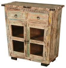 Reclaimed Wood Buffet Table by Reclaimed Wood Scalloped Edge Display Buffet Cabinet Rustic