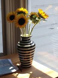 Striped Vase Black And White Vases Emilia Ceramics