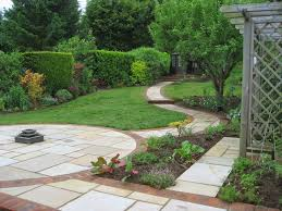 backyard slope landscaping ideas modest landscape design ideas sloped backyard with garden design