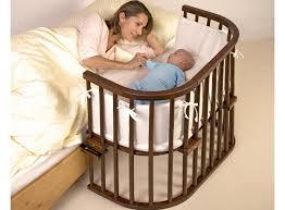 Bed Side Cribs Babybay Bedside Cot Inc Rail Mattress And Tencel Sheets