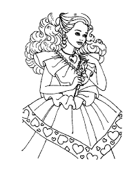 barbie printables coloring pages