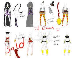almost nsfw halloween costume adopts open by kariniji on deviantart
