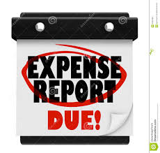 Expense Reports by Expense Report Due Date Calendar Deadline Submit Stock