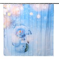 snowman curtains kitchen 180x180cm snowman pattern waterproof polyester shower curtain