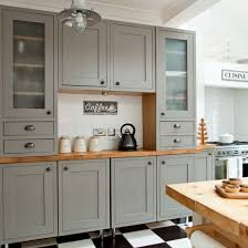grey kitchen cabinets b q makeover grey country kitchen ideal home shaker style
